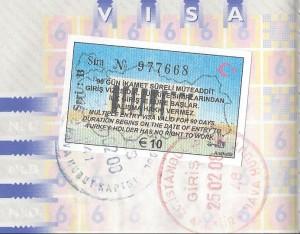 Visum voor Turkije